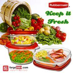 Pastikan sayuran dan bahan makanan Anda tetap segar dan berkualitas dengan toples-toples cantik dan lucu dari rubbermaid. http://fargo2001.com/housewares-315/food-storage-338/rubbermaid-339