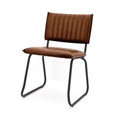 Uit de collectie van Eleonora is eetkamerstoel vera naast betaalbaar ook zeer trendy. Door het gebruik van PU leder is de eetkamerstoel gemakkelijk schoon te houden en comfortabel. Ook geven de verticaal gestikte zitting en rugleuning in combinatie met het metalen frame de stoel een industriele look.