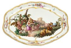 Meissen tray, superbly painted with a pastoral scene, c. 1765 For Sale | Antiques.com | Classifieds