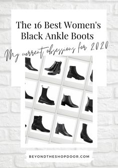 Title Page for The 16 Best Women's Black Ankle Boots for 2020 Crocs Boots, Shoe Boots, Chunky Boots, Casual Boots, Black Ankle Boots, Retail Therapy, Western Boots, Amazing Women, Chelsea Boots