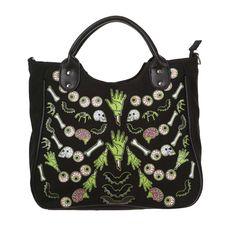 Banned Zombie handbag black/green - One Size - Banned   Attitude Europ