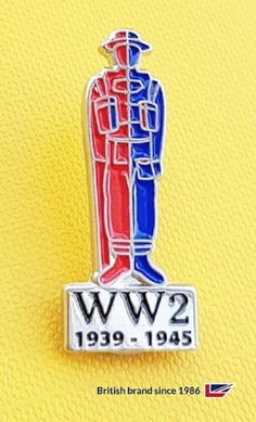 Nickel plated WW2 1939-1945 badge. Name Badges, Pin Badges, Make Your Own Badge, Custom Badges, Ww2, Charity, Plating, Create, How To Make