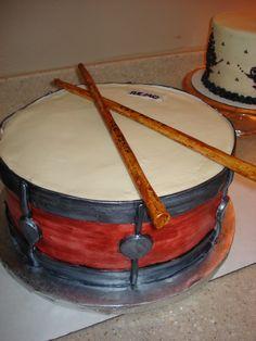 Snare Drum Cake - buttercream and fondant