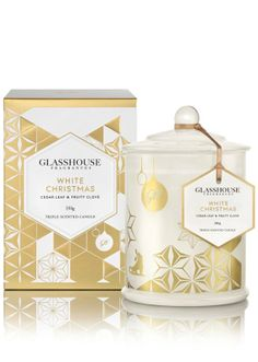 Glasshouse 2015 White Christmas Candle