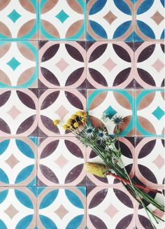 Clumsy, childlike, cool. Cement tiles that feel Brazilian or Cuban but are credited to Danish outfit Tine K.