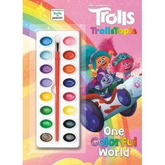 An all-new deluxe coloring and activity book based on the brand-new DreamWorks Trolls TV series TrollsTopia--premiering soon! Includes watercolor paints and brush! This deluxe paint box book, based on the DreamWorks Animation TV series TrollsTopia, features 64 images to paint, a paintbrush, and 16 different watercolor paints! Boys and girls ages 3 to 7 will meet all the colorful characters in the TrollsTopia TV series, and learn about friendship and appreciating differences, and how differences Poppy And Branch, Adornos Halloween, Toys R Us Canada, Barbie Toys, Dreamworks Animation, Painted Boxes, Invite Your Friends, Cute Creatures, Book Club Books