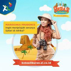 Marischka Prudence akan menjadi Captain buat kamu yang mau liburan GRATIS ke Afrika! #BebasLiburan