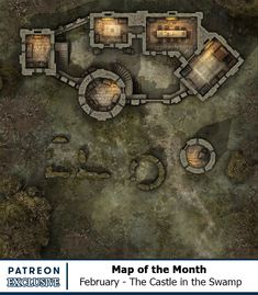 Map of the Month - Back Catalogue Fantasy Castle, Fantasy Map, Medieval Fantasy, Sword Art Online, Online Art, Dnd World Map, Rpg Map, Minis, Dnd Monsters