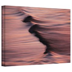 Waves After Sunset by David Liam Kyle Photographic Print on Canvas