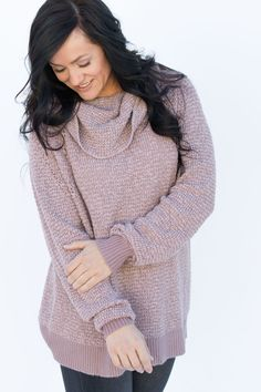 Free People By Your Side Mauve Sweater OB754970