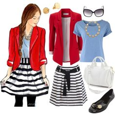 """Sketch: Litte Miss Preppy"" by wishlist123 on Polyvore"