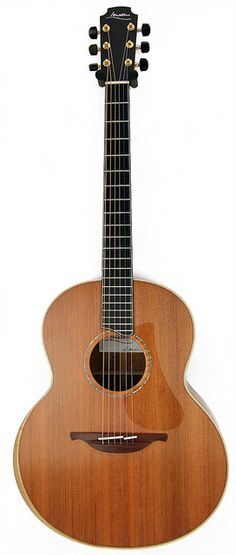 F50 Koa Redwood with bevel by George Lowden Guitars, via Flickr