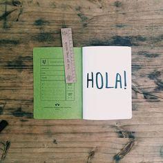 Hola Lunes!!!  Tu notebook preferido y personalizado para esta semana está en VincentCousteau.com.ar #hola#hi#goodmorning#new#day#week#color#green#notebooks#Anotadores#artesanales#escribir#dibujar#regalar#anotar#measuretwicecutonce#monday#lunes