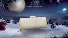"""""""CLUTCH BAG, EVENING BAGS LINE - by Cartier  GOLD-COLORED GOATSKIN,   GOLD-COLORED WATER-SNAKE SKIN  Lacquer, guilloché, precious fabrics or gemstone paving: Cartier excels in the art of leather goods. Objects of desire, stars in the night, Cartier evening bags display exceptional """""""