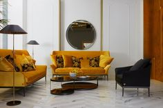 Boasting linear shapes, elegant lines and intricate patterns, the sophisticated #VersaceHome sofas, armchairs, and beds further the brand's lifestyle. Motif Baroque, Latest Furniture Designs, Luxury Portfolio, Versace Home, Home Comforts, Home Trends, Luxury Real Estate, Home Collections, Decoration