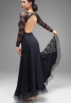Chrisanne Charmed Lace Ballroom Dance Dress| Dancesport Fashion @ DanceShopper.com