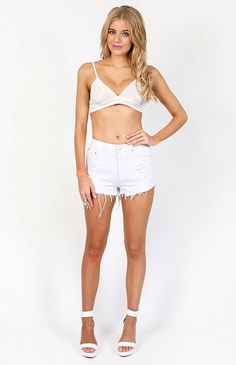 Decoy Bralette White $39 http://bb.com.au/collections/new/products/decoy-bralette-white#