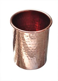 Dimpled handmade pure copper cup for water