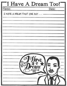 have a dream speech worksheet ~ Www.irade.co
