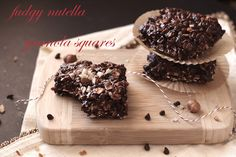 Healthy Nutella Fudge Granola Squares
