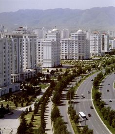 Ashgabat the capital of Turkmenistan All the building are white colour