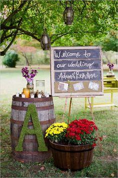 Beautiful backyard wedding idea.