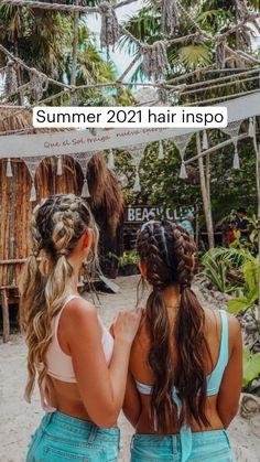 Summer Hairstyles, Pretty Hairstyles, Braided Hairstyles, Active Hairstyles, Beach Hairstyles Medium, Beach Hairstyles For Long Hair, Hairstyle Ideas, Butterfly Hair, Aesthetic Hair