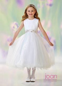 3ea33207f5e Joan Calabrese 118303 Belted Flower Girl Dress
