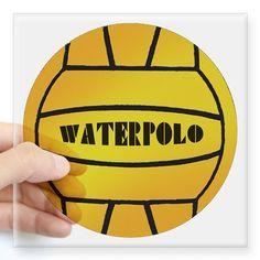 "Water Polo Square Sticker 3"" x 3"" on CafePress.com"