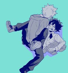 My Hero Academia (Boku No Hero Academia) #Anime #Manga Midoriya and Bakugou