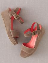 Suede Demi-Wedges