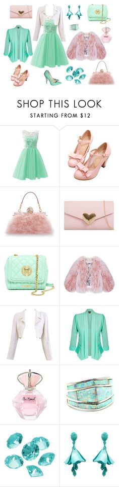 """PROM OUTFIT CREATED BY MY DAUGHTER"" by olesyashef on Polyvore featuring мода, Jimmy Choo, Dolce&Gabbana, Love Moschino, Florence Bridge, Chanel, City Chic, Blue La Rue и Oscar de la Renta"