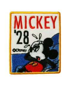 Mickey Mouse Embroidered Applique Iron on Patch