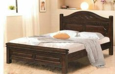 King Size Bed Frame with Headboard Storage — Fence and Gate Ideas King Size Headboard, King Size Bed Frame, Bed Frame And Headboard, Wood Headboard, Wooden Double Bed Frame, Wooden Bed Frames, Wood Beds, Platform Bed With Drawers, Wood Platform Bed