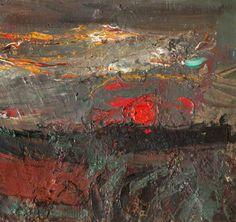 Joan Eardley  -  Setting Sun, c.1958, Oil on canvas, 25.9 x 25.7 cm, Hunterian Art Gallery, University of Glasgow.
