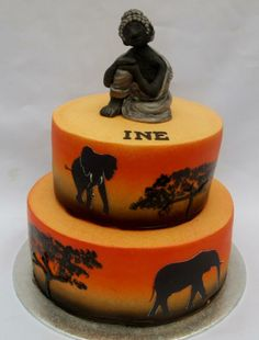 Boeddha and elephants Cakes To Make, How To Make Cake, Cupcake Icing, Cupcake Cakes, African Cake, Artist Cake, Traditional Cakes, Themed Cupcakes, Take The Cake