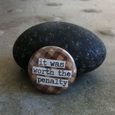 It Was Worth The Penalty Roller Derby 1inch Pinback by PinMeDown, $1.75