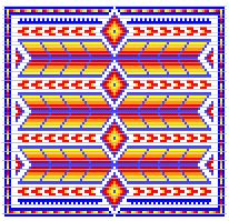 INspired beadwork pattern for Native American Beading