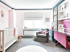 Pink and Gray bedrooms provide the best combination for your space after a day of activities, the room is the first room we go to rest. Needed, many people want a comfortable bedroom to be more com… Grey Room, Gray Bedroom, Pink And Gray Nursery, Aqua Nursery, Nursery Neutral, Nursery Room Decor, Project Nursery, Nursery Ideas, Chic Nursery