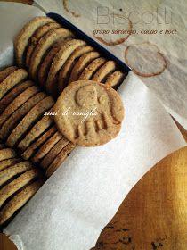 semi di vaniglia: Biscotti grano saraceno, cacao e noci