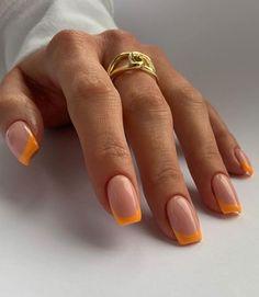 Frensh Nails, Cute Gel Nails, Chic Nails, Stylish Nails, Swag Nails, Shellac Nail Art, Hair And Nails, Manicure Y Pedicure, Manicure Ideas