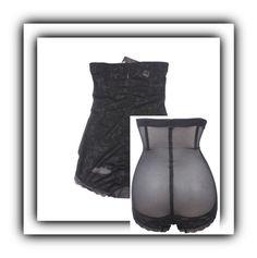 """Black Latex 5 Steel Bones Mens Waist Cincher Vest"" by intimatesclub ❤ liked on Polyvore"