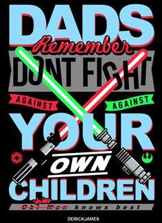 StarWars Dads against Childrens by xDERICK JAMESx, via Behance