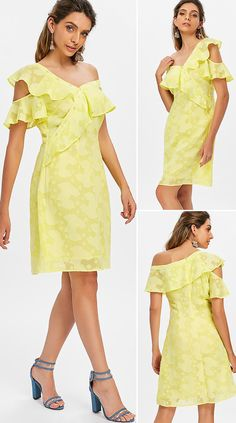 Ruffle Skew Collar Dress HOT SALES 2020, beautiful dresses, pretty dresses, holiday fashion, dresses outfits, dress, cute dresses, clothes, classy & elegant, elegant style, mode trends 2020, trending, fashion, fashion looks, moda, women, beautiful, beauty, buy, sale, shop, shopping, vestidos elegantes, vestidos fofos, vestidos bonitos Outfits Dress, Casual Dresses, Fashion Dresses, Pretty Dresses, Beautiful Dresses, Fashion Looks, Fashion Fashion, Womens Fashion, Collar Dress