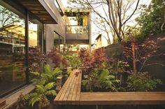 gorgeous raised walk way through foliage | adamchristopherdesign.co.uk