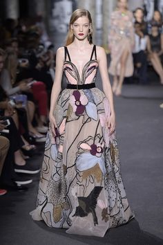 Couture Fall 2016 Trend: Florals | Elie Saab Couture Fall 2016 [Photo: Giovanni Giannoni]