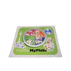 """My Plate"" Activity Mat (style, LRI-239, Constructive Playthings) Inspiration for a diy activity- maybe make several pieces in each color/food group so that children can build their own meal, and attach to ""plate"" with velcro"