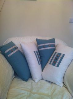 cushions I made as a Christmas gift...I wanted to keep them =)