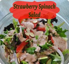 Strawberry Spinach Salad Recipe with #HeinzVinegar @Heinz Vinegar #sponsored