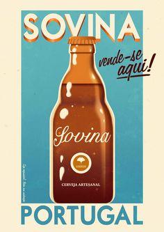 Cartaz Sovina - Cerveja Artesanal, caseira, tradicional, saborosa, natural